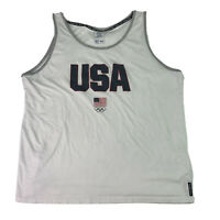 Team USA Olympic Tank Top Mens Sleeveless Team Appearal Athletic Top Size XXL