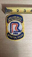 "Vintage Roadway Express 2 Million Miles Winston Salem NC 1980 Patch 2.5""x3"""