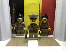 WWII LEGO Belgian Army Colonel with Belgian Infantrymen
