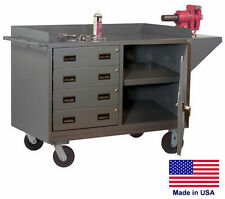 Cabinet Cart Portable - Commercial - Cabinet & 4 Drawers - 38H x 60W x 24D