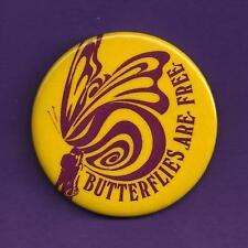 "Gloria Swanson ""BUTTERFLIES ARE FREE"" David Huffman 1971 Broadway Pinback"