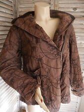 La fée Maraboutée superbe blouson marron taille 44 original avec broderies