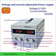 Adjustable Dc Power Supply 0 100v 0 50a With 4 Digital Dispaly Lab Grade 110v