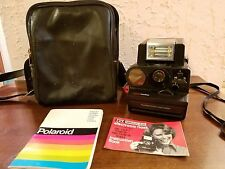 Polaroid SONAR One Step Pronto Land Camera W/ ITT Magic Flash And Carry Case