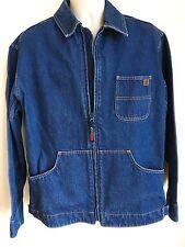 Wrangler Riggs Blue Denim Barn, Chore Coat, Work Wear Jean Jacket, Mens Sz L VGC