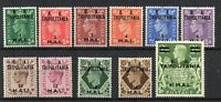 Br Occupation of Italian Colonies - Tripolitania GB surcharge values to 60l MH