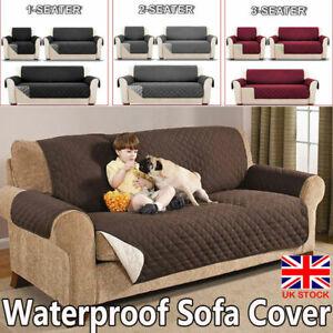 Anti Slip Quilted Sofa Covers Waterproof Dog Pet Protector Reversible Sofa Throw