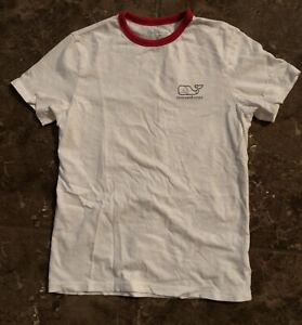 Vineyard Vines Boys Size Small, 10-12 Short Sleeve Tee Shirt Whale, Baseball