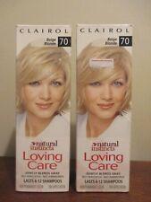 2x Clairol Loving Care Hair Color Crème Lotion 70 Beige Blonde, 3 oz