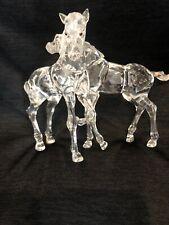"Beautiful Swarovski Crystal Foals Retired ""Two Horses"""