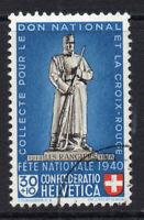Switzerland 30 cent on 10 cent Stamp c1940 Used (1015)