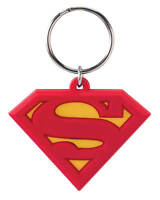 DC Comics Superman Logo Laser Cut Rubber Keychain