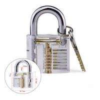 1x Transparent Practice Lock Clear Visible Inside Padlock For Locksmith Practice
