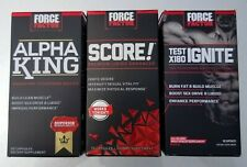 Force Factor Alpha King + Score! + Test X180 Ignite stack - build muscle - new
