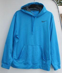 Nike Therma Fit Hoodie Sweatshirt Pullover Kapuze Jogging Größe XL blau