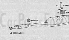 Silenciadores De Escape EXBM6002 Tubo de escape () +3Yr garantía de concha de almeja
