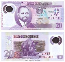 Mozambique 20 mozambiqueños 2011 polímero primera prefijo P-149 Billetes Unc