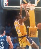 1990's Elden Campbell  LA Lakers  Autographed Photo w/COA (BK-136)