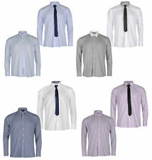 Polyester Yes Button Cuff Striped Formal Shirts for Men