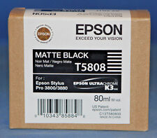 New Epson T5808 Matte Black Ink Cartridge 80ml Ultrachrome K3