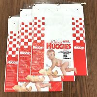 70s Vintage Huggies Empty Rare Company Sample Bag Lot Of 3 Diapers Size 12-24 Lb