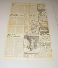 Blondie Kansas Peter Gabriel Iggy Pop Concert Ad Advert Tour 1977 Palladium Ny