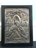 Antique Russian Religious Orthodox Icon Silver Oklad Jesus Christ Resurrection