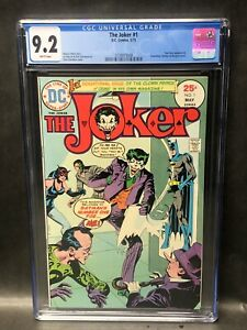 The Joker #1  CGC 9.2 NM- DC Comics 1975 **White Pages**