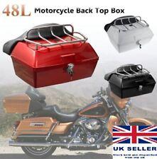 Motorcycle 48l wide Top Box Back Rest Storage Honda Yamaha Suzuki Black