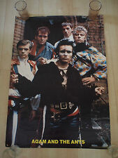 ADAM ANT 1981 Vintage USA Poster NEW WAVE ORIGINAL RARE Adam and the Ants