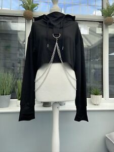 Goth/alt/punk/ Chained Cropped Hoodie Size M