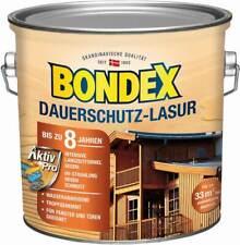 BONDEX Dauerschutz Lasur Außen Holzfarbe, 2,5l für 32,5 m²,  wetterschutz