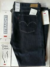 Original Levis Demi Curve Straight Damen Used Wash W32 / L32 Jeans blau Neu!