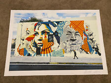 AMERICAN DREAMERS V BY VHILS X SHEPARD FAIREY OBEY 275/450 - Large Sold Out