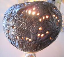 noix de coco sculptee ajouree travail bagnard 18-19eme carved coconut