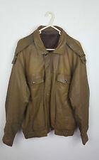 Vintage Rétro Brown Distressed Unisexe Urban Renewal Leather Mod Scooter Jacket UK M