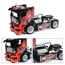 608pcs Race Truck Car 2 In 1 Transformable Model Building Block Sets DIY Toys