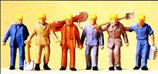 Personnages preiser h0 (14033): voie ouvrier du bâtiment