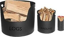 Logs, Kindling & Matches Holders Set