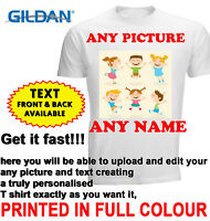 Personalised T-shirt Custom Your Image Printed Stag Hen Party Kids Birthday DTG