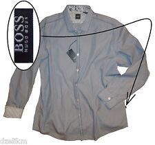 NWT Hugo Boss Black Label by Hugo Boss Navy-White Pinstripe Shirt XXL