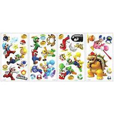 Super MARIO GALAXY decals 35 wall stickers WII Nintendo Yoshi Bowser scrapbook