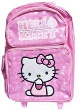 Sanrio Hello Kitty Rolling Backpack Luggage NEW