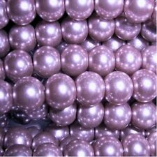 50 pieces 10mm Glass Pearl Beads - Lilac Purple - A1222