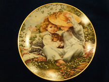 """""""A Time To Love"""" By Sandra Kuck 1989 March of Dimes Reco Knowles Collector Plate"""