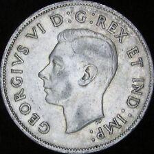 1940 XF+ (AU-)  Canada Silver 50 Cents (Fifty, Half) - KM# 36 - JG