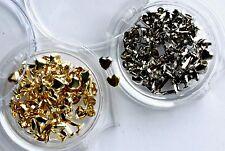 Woodware 5mm Heart Brads - Gold & Silver - Wedding Crafts - Split Pin - 160 pcs