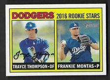 2016 Topps Heritage #163 Frankie Montas / Trayce Thompson RC Los Angeles Dodgers