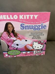 """Snuggie ~ The Blanket with Sleeves  """"Hello Kitty""""  Adult Fleece ~ NEW IN BOX"""