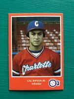 1980 Charlotte CAL RIPKEN JR Minor League Baseball REPRINT Rookie Card ORANGE